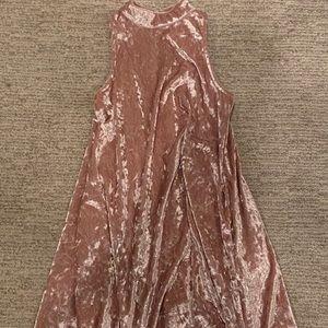 girls ruby and bloom crushed velvet dress